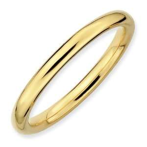 Sterling Silver Stackable Gold plated Polished Ring Jewelry