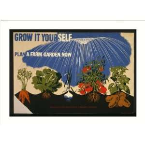 Poster (M) Grow it yourself Plan a farm garden now. Home & Kitchen