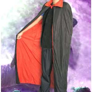 Black and Red Long Vampire Cape     Halloween Costume Toys & Games
