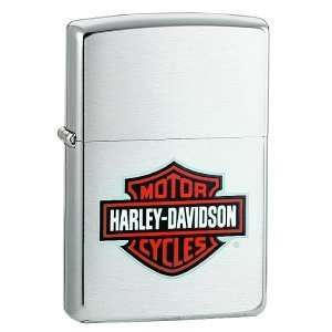 Harley Davidson Color Bar & Shield Brushed Chrome Zippo