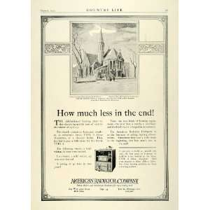 1922 Ad American Radiator Heaters Ideal Heat Machine Trinity Church