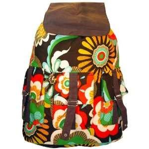 Retro flower power hippie inspired backpack Sports