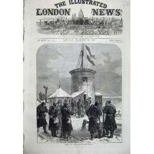 1871 Hoisting German Flag Mont Valerien War Army Art