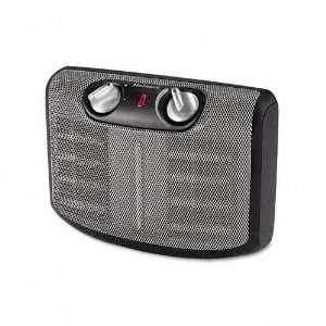 Twin Ceramic 1500W Heater w/Comfort Control Thermostat, 6 5/8 x 11 1/4