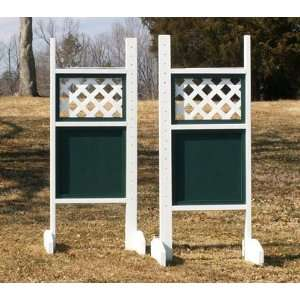 Lattice Top Solid Bottom Wing Standards Horse Jumps: Sports & Outdoors