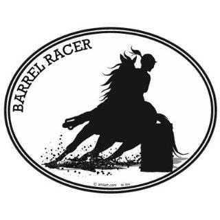 Hearts, 1 Dream Barrel Racing Horse Trailer Vinyl Window Decal Sticker
