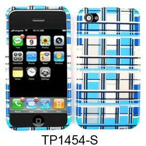 CELL PHONE CASE COVER FOR APPLE IPHONE 4 TRANS BLUE WHITE