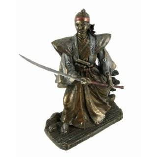 Samurai Warrior In Battle Japanese Statue Figurine