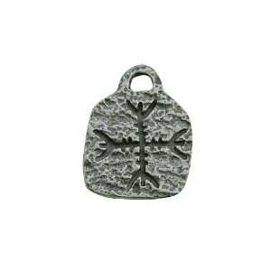 Negativity, Runes of Power Pewter Pendant with Cord Necklace Jewelry