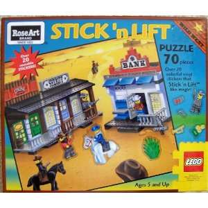 LEGO Rose Art 08046 Wild West Stick n Lift Puzzle : Toys & Games