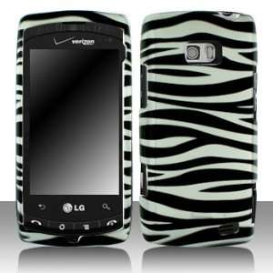 LG VS740 Ally Silver Black Zebra Case Cover Protector with
