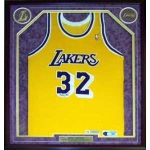 Magic Johnson Autographed Jersey   Framed Sports