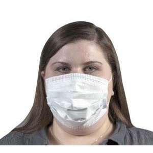 Blue Procedure Face Mask w/Ear Loops, 50/Box