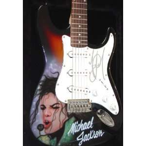 MICHAEL JACKSON Autographed AIRBRUSHED Signed Guitar