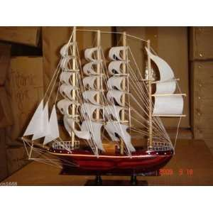 Hand Made Wooden Model Sailing Ship Large Size Fully Assembly and