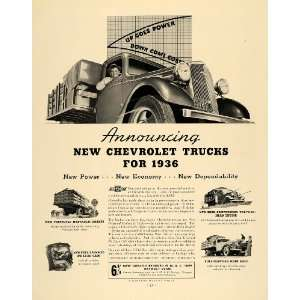 Ad Chevrolet Trucks Motor Vehicle General Motors   Original Print Ad