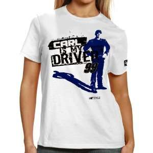 NASCAR Chase Authentics Carl Edwards Ladies Shadow T Shirt   White