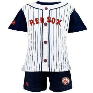 Majestic Boston Red Sox Toddler Navy Blue Pinstripe 2 Piece Uniform