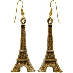 75 X 1.75 Eiffel Tower Charm Earrings Gpexclusive Usa with Antique