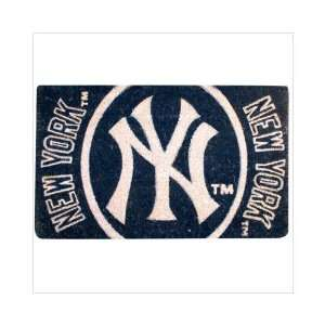 30 MLB New York Yankees Natural Coir Fiber Welcome Mat