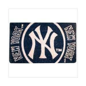 30 MLB New York Yankees Natural Coir Fiber Welcome Mat