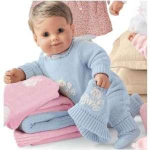 My Twinn Baby Jordan in Blue Sweater Romper Outfit Toys & Games