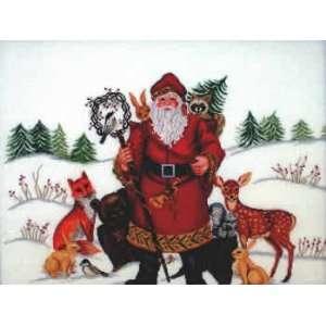 Nordic Santa (cross stitch) Arts, Crafts & Sewing