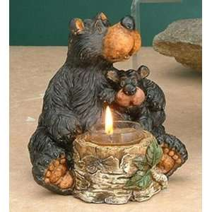 Bear Tealight Candle Holder Collectible Decoration Design Statue Home