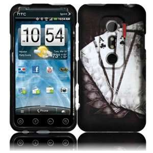 Vintage Ace Design Hard Case Cover for HTC Evo 3D Cell