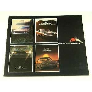 1969 69 PLYMOUTH BROCHURE Barracuda Satellite Fury GTX