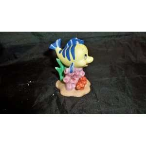 Disney Vtg Porcelain Figurine ~ Little Mermaid (FLOUNDER