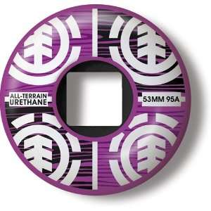 Element Skateboard Wheels Purple Growth 53mm: Sports