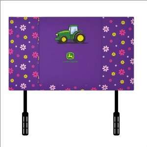 World John Deere Headboard for Twin Bed in Purple: Furniture & Decor