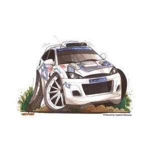 Kool Art   White Focus Rally Car   Sticker / Decal Automotive