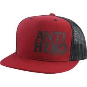 Distressed Mesh Hat Adjustable Red Black Skate Hats