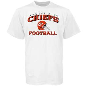 Reebok Kansas City Chiefs White Stacked Helmet T shirt