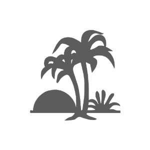 Palm Trees small 3 Tall DARK GREY vinyl window decal