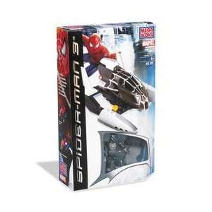 Mega Bloks Spider Man 3  Transporter with Black Spider Man  Toys