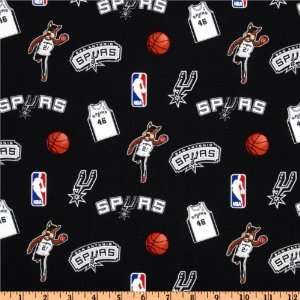 San Antonio Spurs Black Fabric By The Yard: Arts, Crafts & Sewing