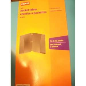 com Staples Poly Pocket Folder 50 Sheet Capacity (Fits 3 ring Binders