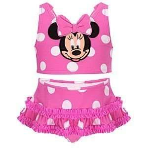 Minnie Mouse Swimsuit bathing suit Bikini    2 Pc. Size 4 T 4T Toddler