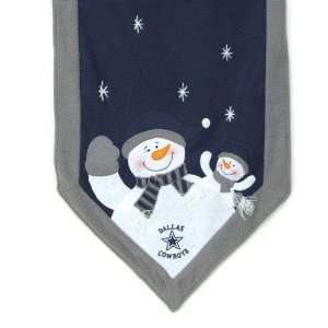 Dallas Cowboys NFL Snowman Table Runner (72x15)