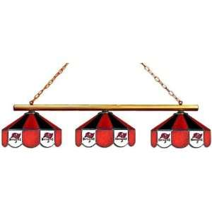 Tampa Bay Bucs Buccaneers 3pc Swag Glass Pool Table Light/Lamp