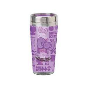 Japanese Sanrio Stainless Steel Mug Clear Purple Hello Kitty Toys