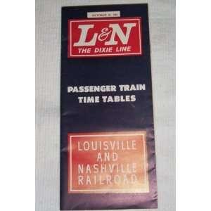 L & N The Dixie Line Passenger Train Time Tables