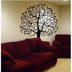 Large 6ft Tree Wall Decal Deco Art Sticker Mural   BLACK