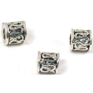3 Bali Tube Beads Jewelry Antique Black Bead 5 x 5mm Arts