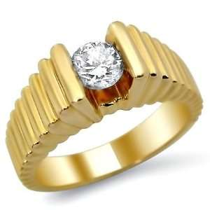 Vintage .55ct VS 2 G Round Diamond Engagement Ring 14k Gold Jewelry