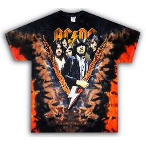 HIGHWAY TO HELL Vintage Tie Dye Rock Band T Shirt XL