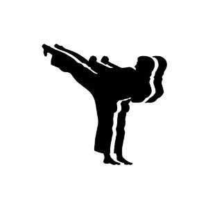 Karate BLACK vinyl window decal sticker